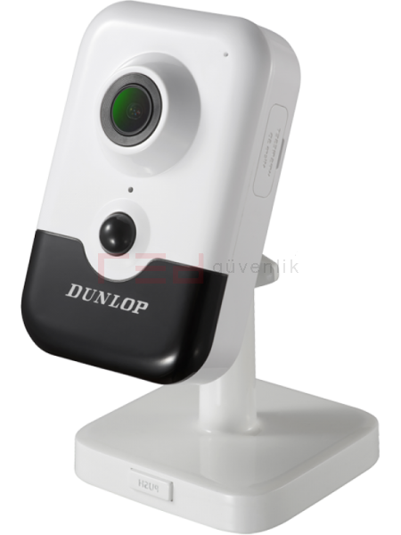 3MP Kablosuz Küp IP Kamera 10 metre IR (Dahili Mikrofon, Hoparlör & PIR ) (H265+)