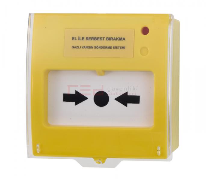 Teknim TFB-3165 Y Serbest bırakma butonu, gazlı yangın sistemleri için