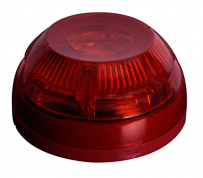Teknim TFS-3192R Flaşörlü yangın alarm sireni, kırmızı.
