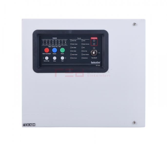TFP-408 8 Bölgeli Konvansiyonel Yangın Alarm Paneli